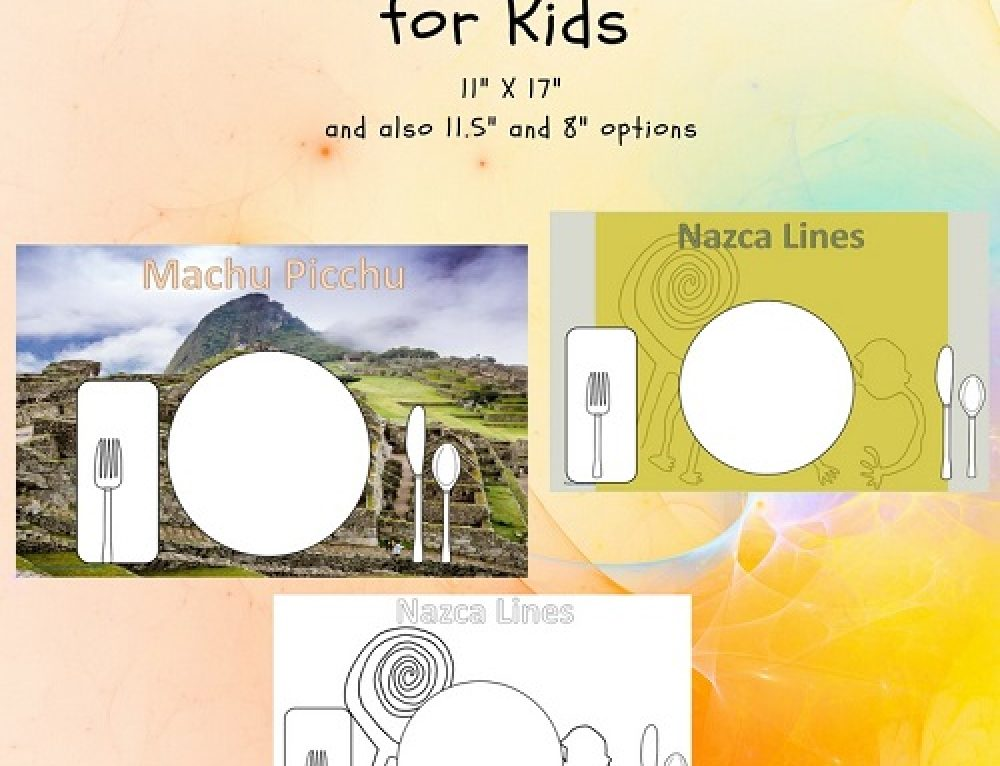 Machu Picchu and Nazca Lines Placemats