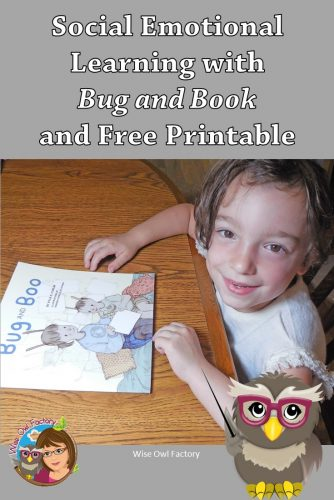 Emotional Intelligence Awareness Month and Freebie and free printable for teacher and homeschool use, and book review of Bug and Boo