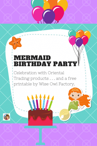 Birthday Party with OTC and Free Party PDF -- this post is about a birthday celebration for a 5-year-old and has a party printable freebie.