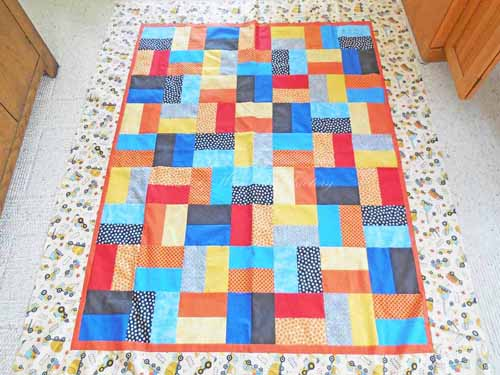 finished On the Double quilt top