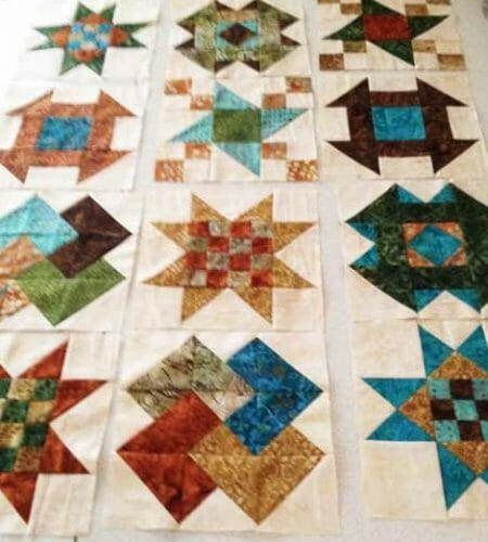 traditional sampler class blocks ready for the sash and corners
