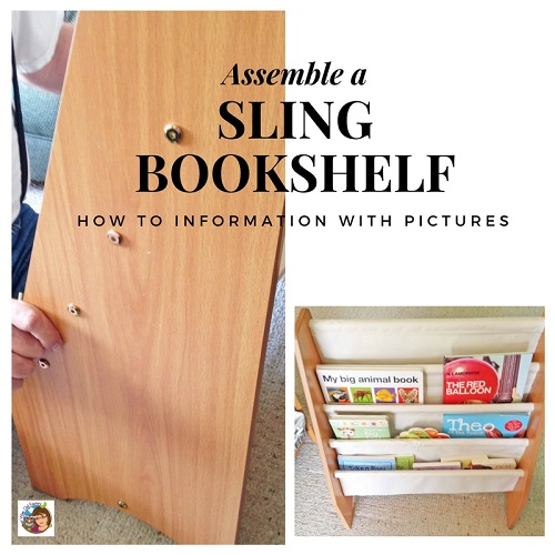 How to Assemble a Sling Bookshelf for Kids
