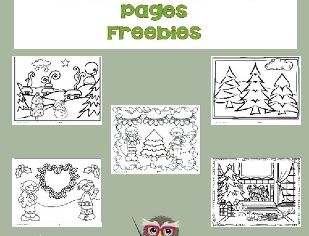 Coloring Pages for Christmas for Children Free