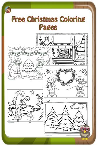 Coloring Pages for Christmas for Children Free -three coloring pages PDF printable instant downloads to help entertain children during the busy holiday season.