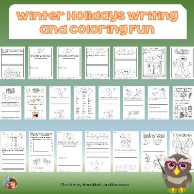 Winter-Holiday-Writing-and-Coloring-Pages