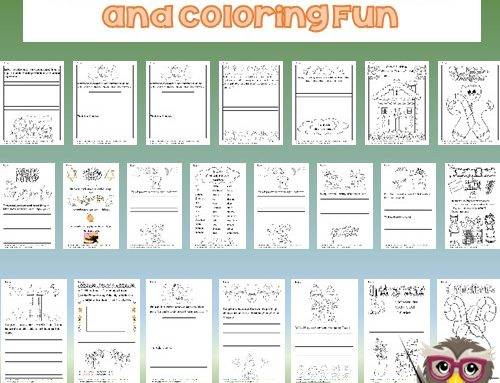 Winter Holiday Writing Frames and Coloring Fun