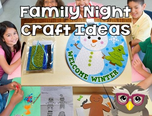 Winter Crafts for Teen Led Family Night