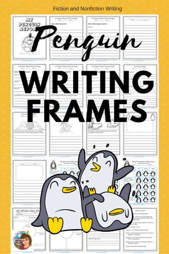 Penguin Creative and Nonfiction Writing Frames #freebie #writing #penguins #WiseOwlFactory