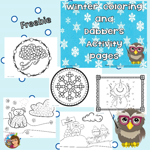 winter-coloring-and-dabber-pages-freebie