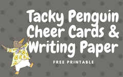 Free Printable for Three Cheers for Tacky by H Lester