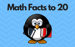math-facts-to-20-penguin-theme