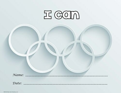 Editable Olympic Theme Letter Size Standards Posters Freebie