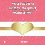 Valentines Printable Gold Theme Free PDF