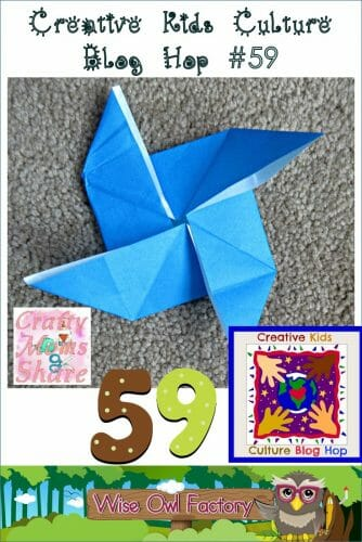 Creative Kids Culture Blog Hop #59 and Origami --  multicultural activities, crafts, recipes, and musings for our creative kids.