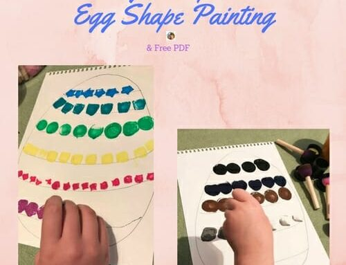 DIY Paint Stamping an Easter Egg Shape on Watercolor Paper