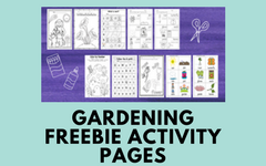 Free Gardening Color and Activity Pages