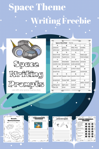 Space Theme Writing Prompts, Word Wall, and Rubric  -- including a word wall, writing prompts, a rubric, and writing frames to help students develop stories.