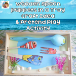 Ocean Theme Wooden Spoon Craft and Pretend Play