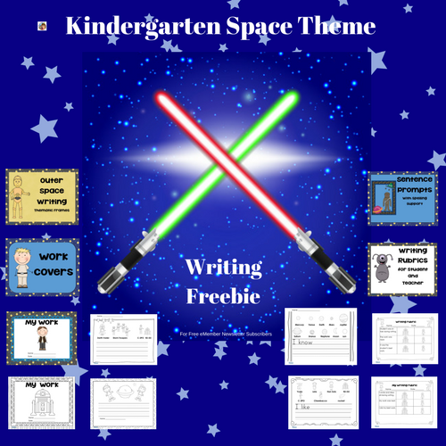 Space Theme Writing Frames Kindergarten Freebie