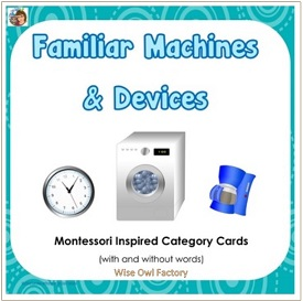Familiar Machines and Devices Category Cards