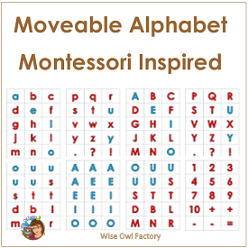 Montessori Inspired Movable Alphabet