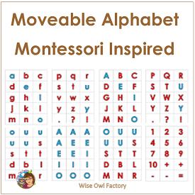 Montessori Inspired Movable Alphabet