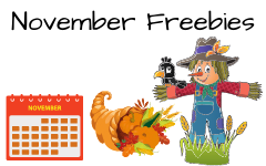 November Free Educational Resources
