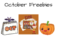 October Educational Resources Freebies