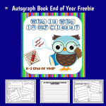 Year End My Class Who's Who Autograph Booklet Free