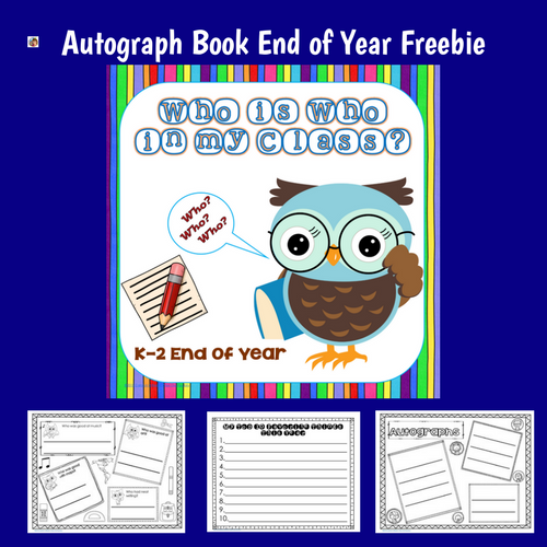 Autograph-Booklet for Year End My Class Who's Who Freebie