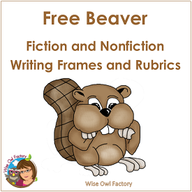 Beaver Writing Frames