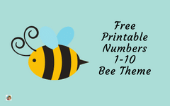 Printable Numbers 1-10 Bee Preschool Theme Free PDF
