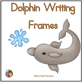 Dolphin Writing Frames
