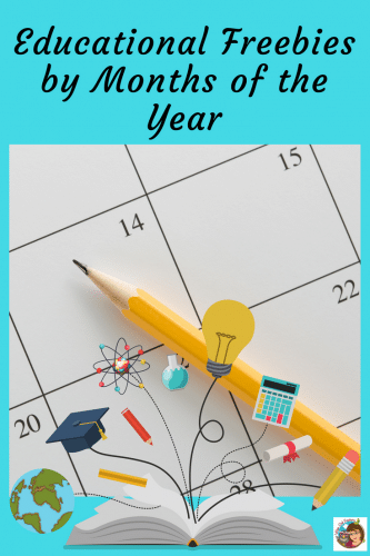Months of the Year Educational Free Resources -- organized by months of the year for Pre-K through elementary grades including back to school through the end.