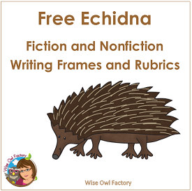 Echidna Writing Frames