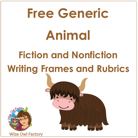 Generic Animal Writing Frames