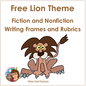 Lion Writing Frames