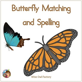 Matching Butterfly Colors and Letters 2 Activities
