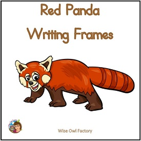 Red Panda Writing Frames