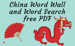 Illustrated China Word Search and Word Wall Freebies