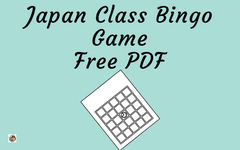 Japan Bingo Game for Grades K-4 Free PDF