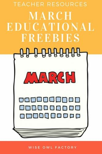March Free Educational Resources --Free bunny theme book companion printables and March calendar printables and resources. Make a bunny pinata!