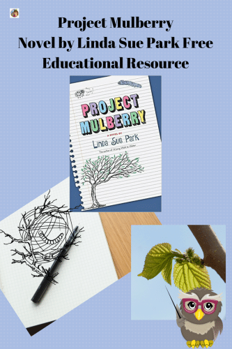 Project Mulberry by Linda Sue Park Free Printable -- This post has a book review and free educational printable PDF for Asian Pacific American Month