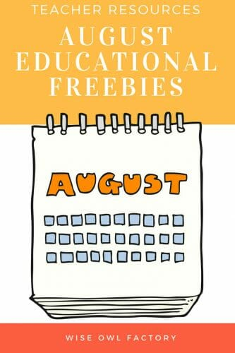 August Free educational resources and materials for Pre-K through elementary grade levels. Some PDFs are editable for teachers who wish to customize their materials.