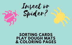 Insect or Spider Play Dough Mats and Free PDF