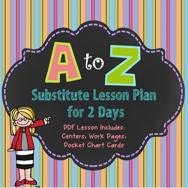 Substitute Day A to Z Plans for 2 Days
