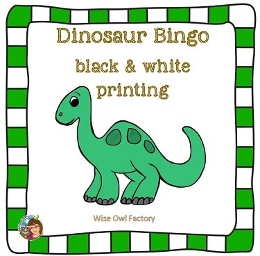 dinosaur-bingo-black-and-white-printing image bingo