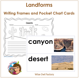 landforms-writing-pages-and-cards-printable