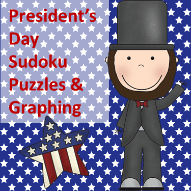 Sudoku and Graphing President's Day Activities