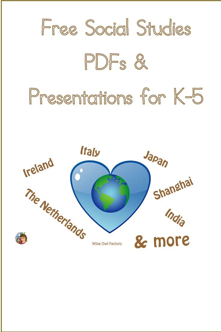 Free Social Studies Resources including Power Points and SMART Board files for K-5 presentations on Japan, Shanghai, and other countries